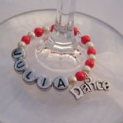 Dance Personalised Wine Glass Charm - Full Bead Style